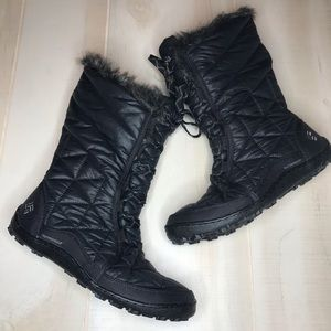 Columbia Waterproof Quilted Winter Boots Black 9